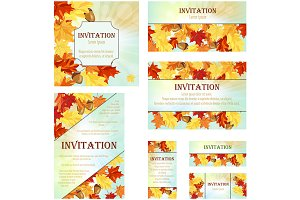Set of 7 Invitation Cards