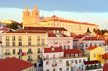 View of Old Town of Lisbon, Portugal