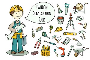 Cartoon builder + construction tools