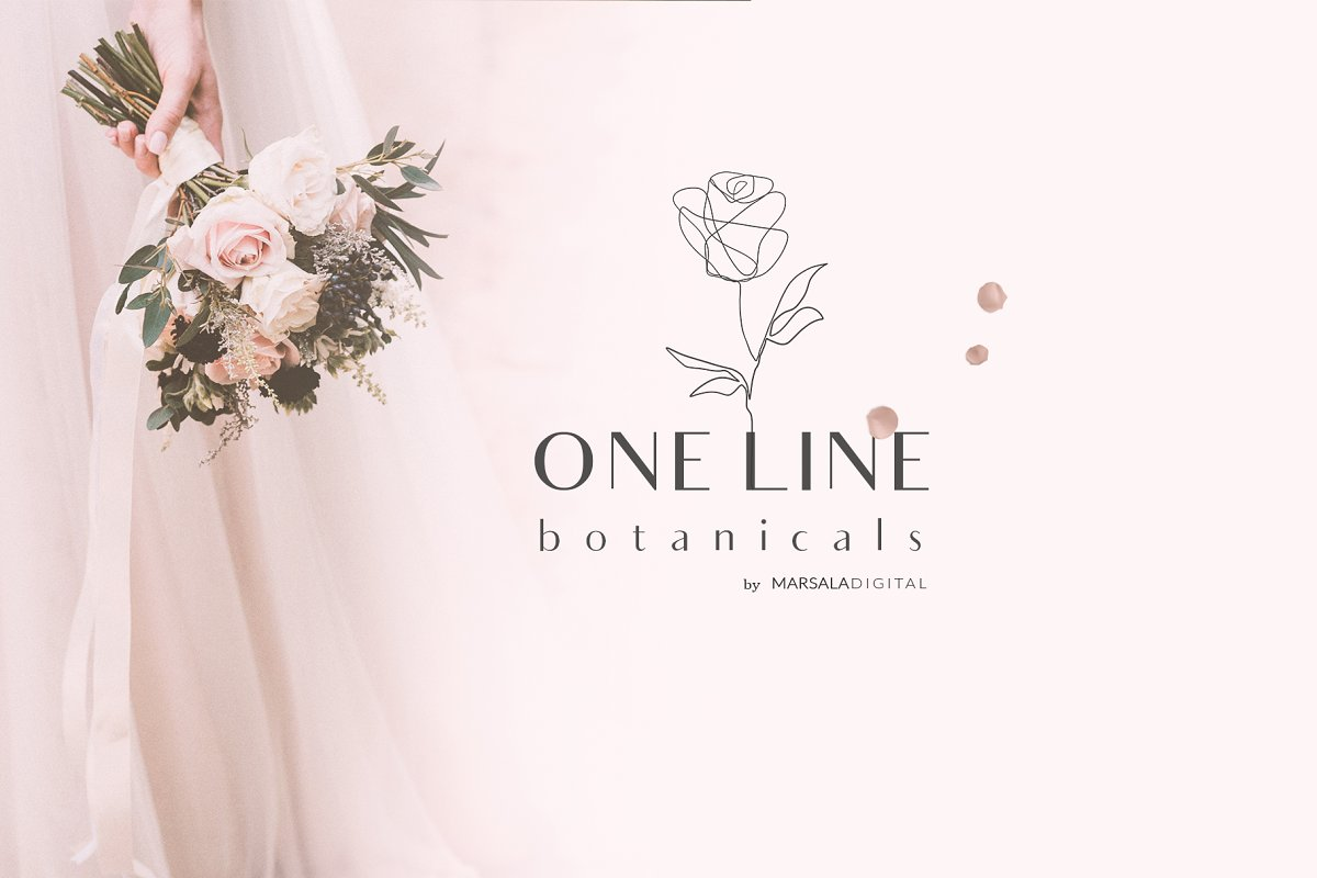 One Line Botanical Drawings