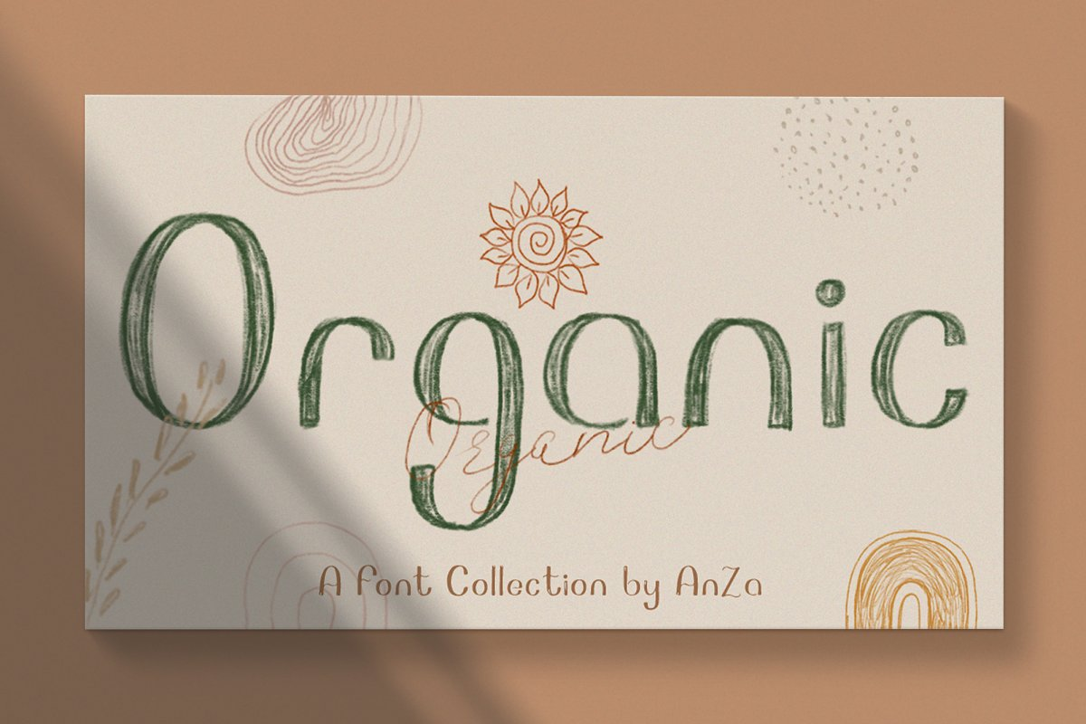 Organic font collection