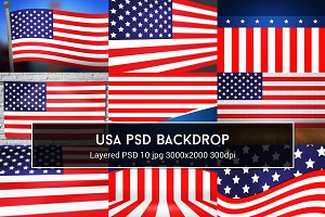 USA PSD Backdrop