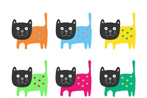 Color cats set