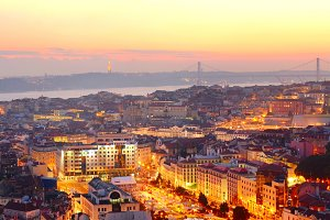 Overlooking of Lisbon, Portugal