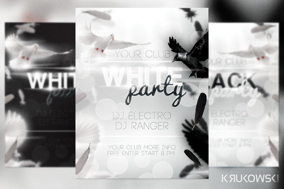 White Party Flyer Flyer Templates Creative Market