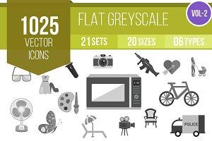 1025 Greyscale Icons (V2)