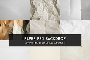Paper PSD Backdrop