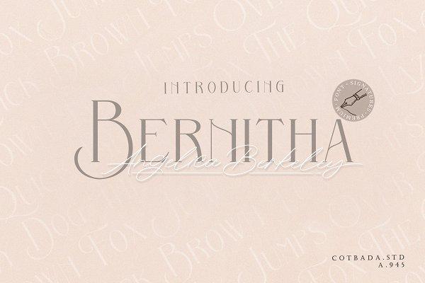 Best Bernitha Angelica Berkeley + BONUS Vector