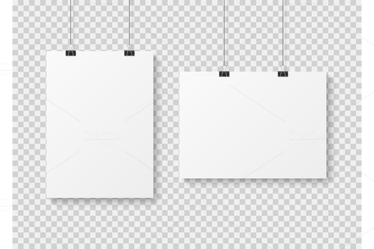 White blank poster template