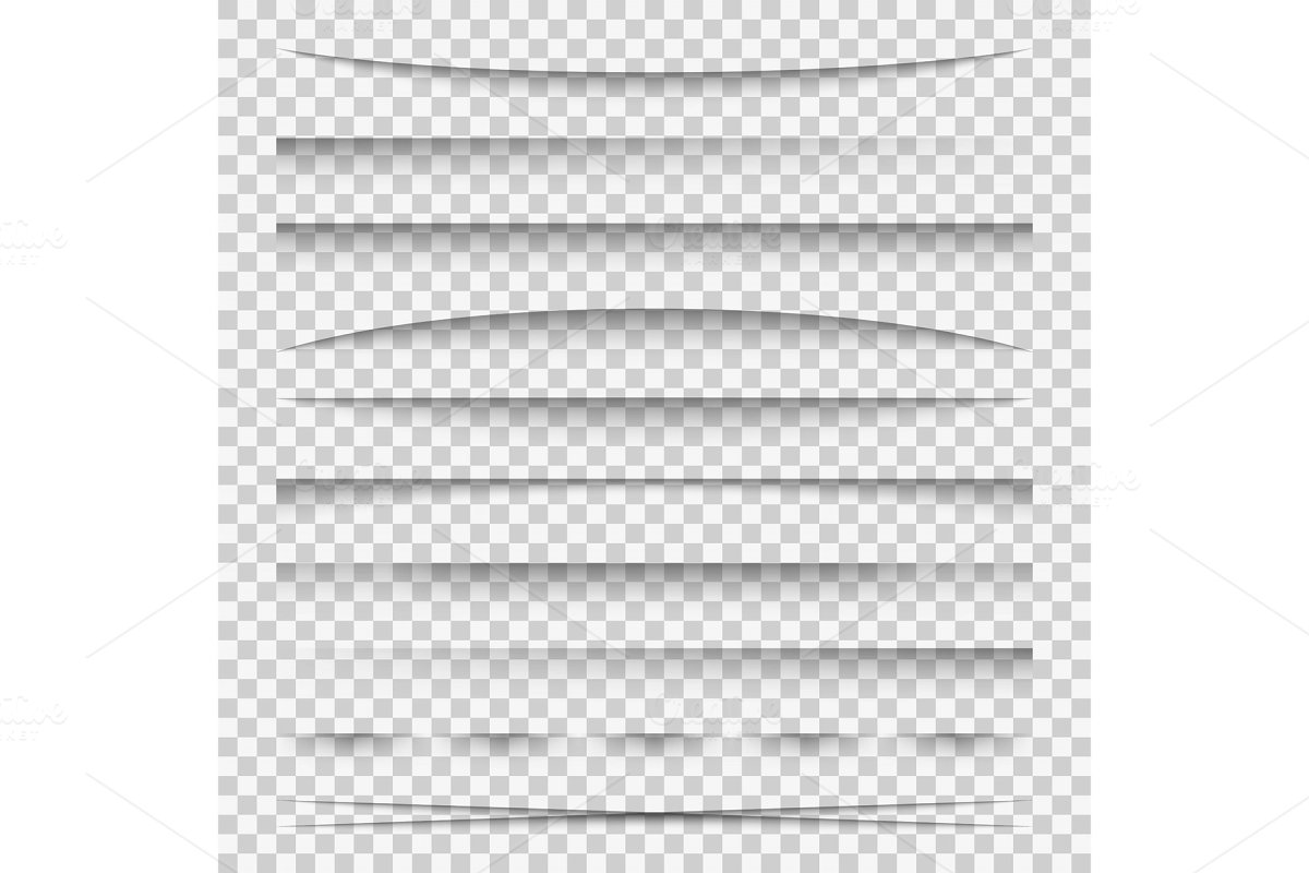 Lines shadow. Paper divider tabs web