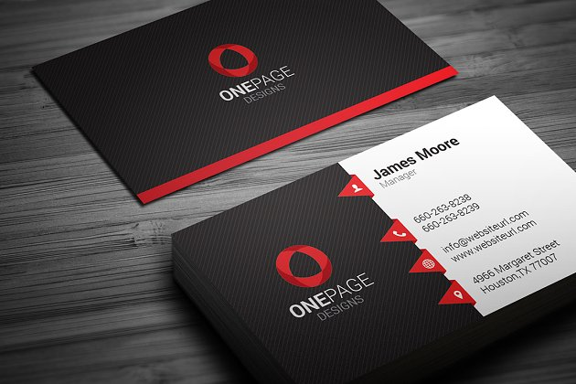 Creative business card business card templates creative market pro red business card template accmission Images