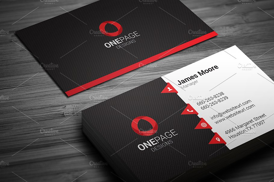 Red business card template business card templates creative red business card template accmission Image collections
