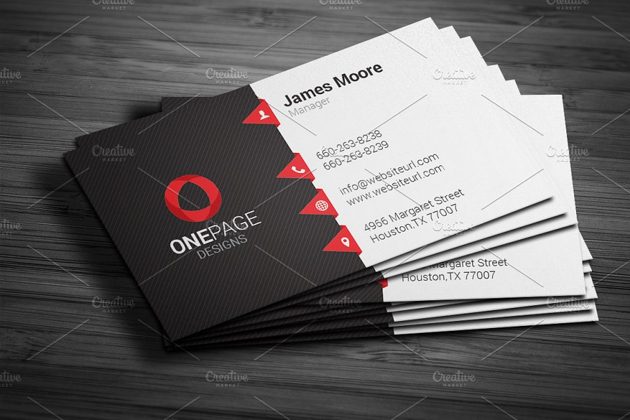 Red business card template business card templates creative red business card template business card templates creative market pro friedricerecipe Gallery