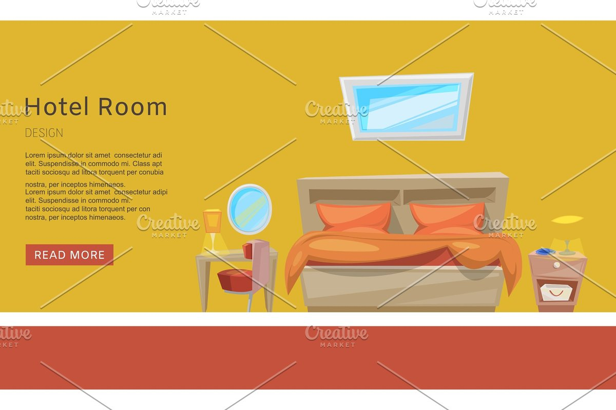 Hotel room reservation, apartment