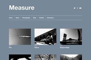 Measure - Responsive WordPress Theme