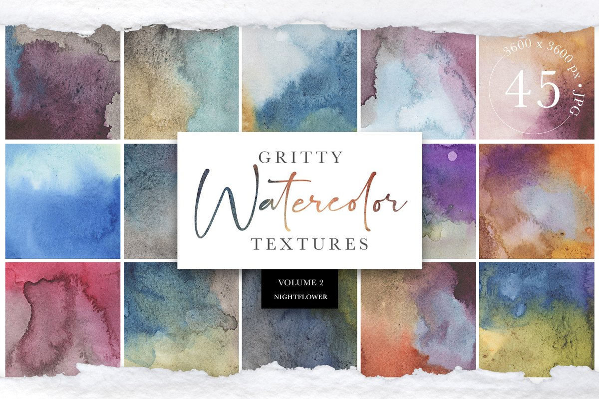 Gritty Watercolor Textures Vol 2