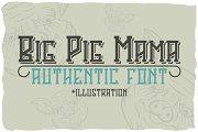 Big Pig Mama typeface + illustration