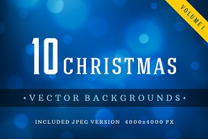 10 Christmas backgrounds