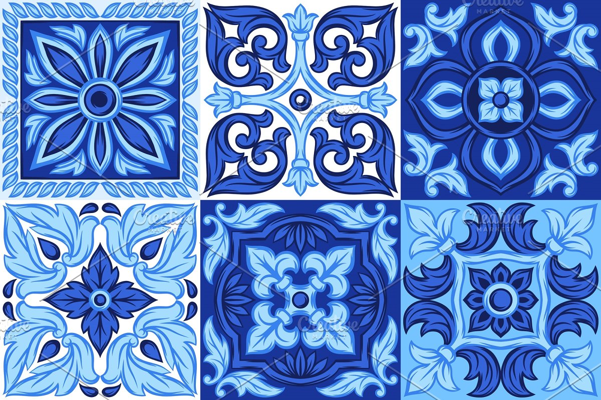 Italian ceramic tile pattern. Ethnic