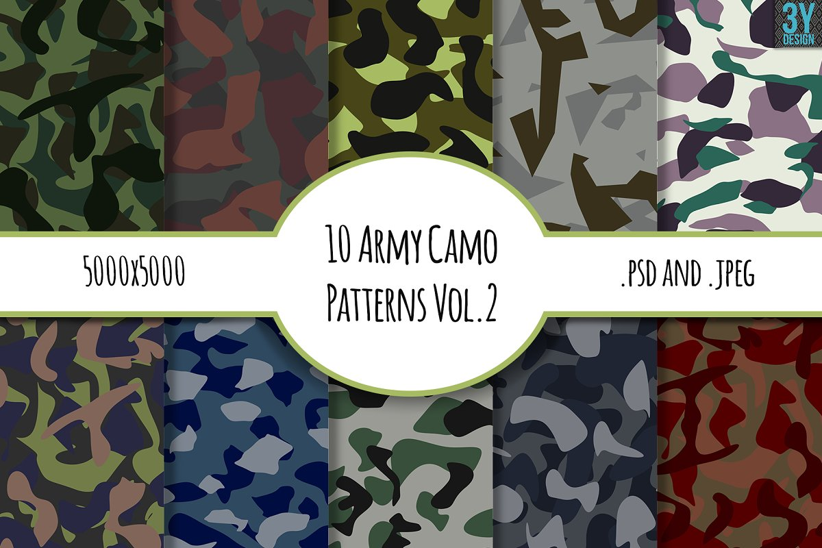 10 Army Camo Patterns Vol.2