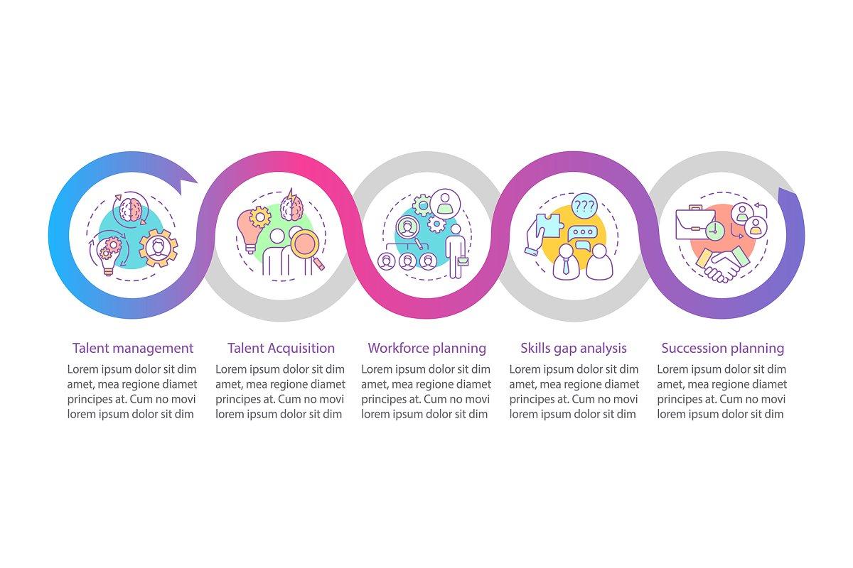 Talent management vector infographic