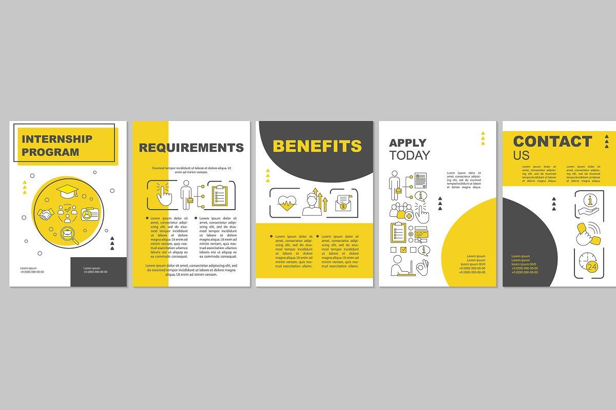 Internship program brochure template