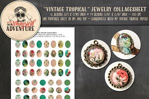 Vintage Tropical Jewelry Circles