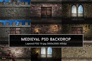 Medieval PSD Backdrop