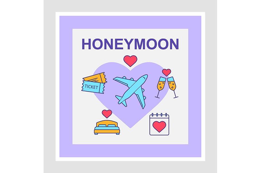 Honeymoon social media posts mockup