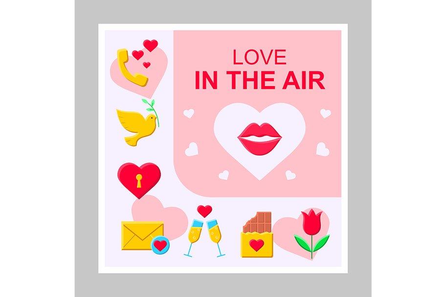 Love in the air social media mockup