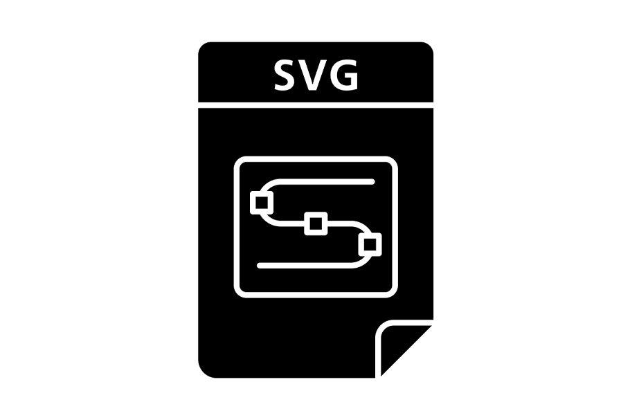 SVG file glyph icon