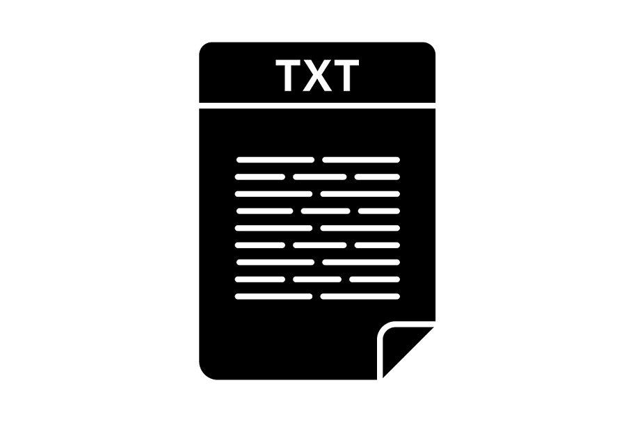 TXT file glyph icon