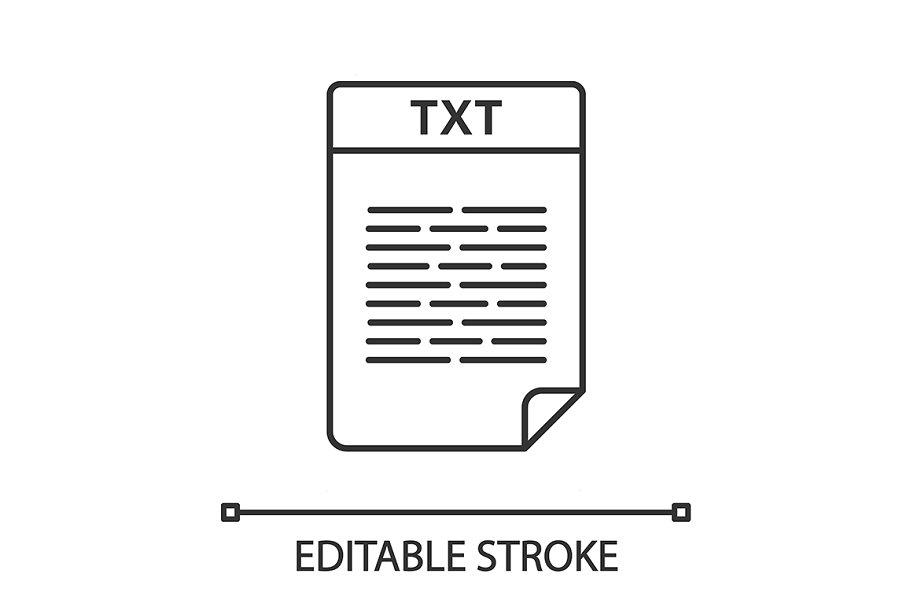 TXT file linear icon