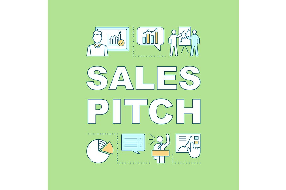 Sales pitch concept icon