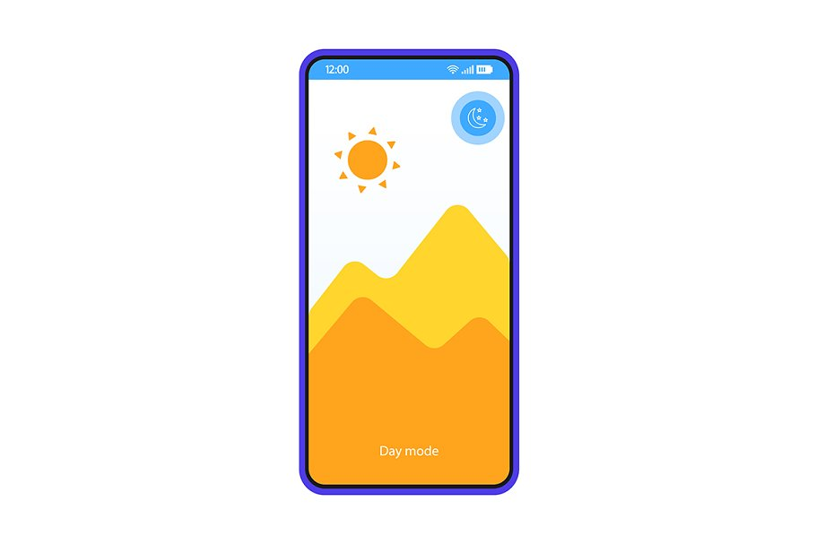 Day mode app smartphone interface