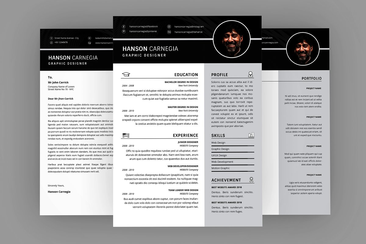 CV Biography Resume Designer