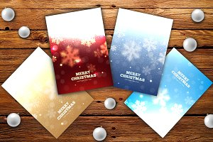Set of elegant Christmas flyers