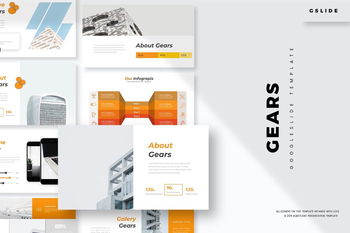 Gears - Google Slide Template