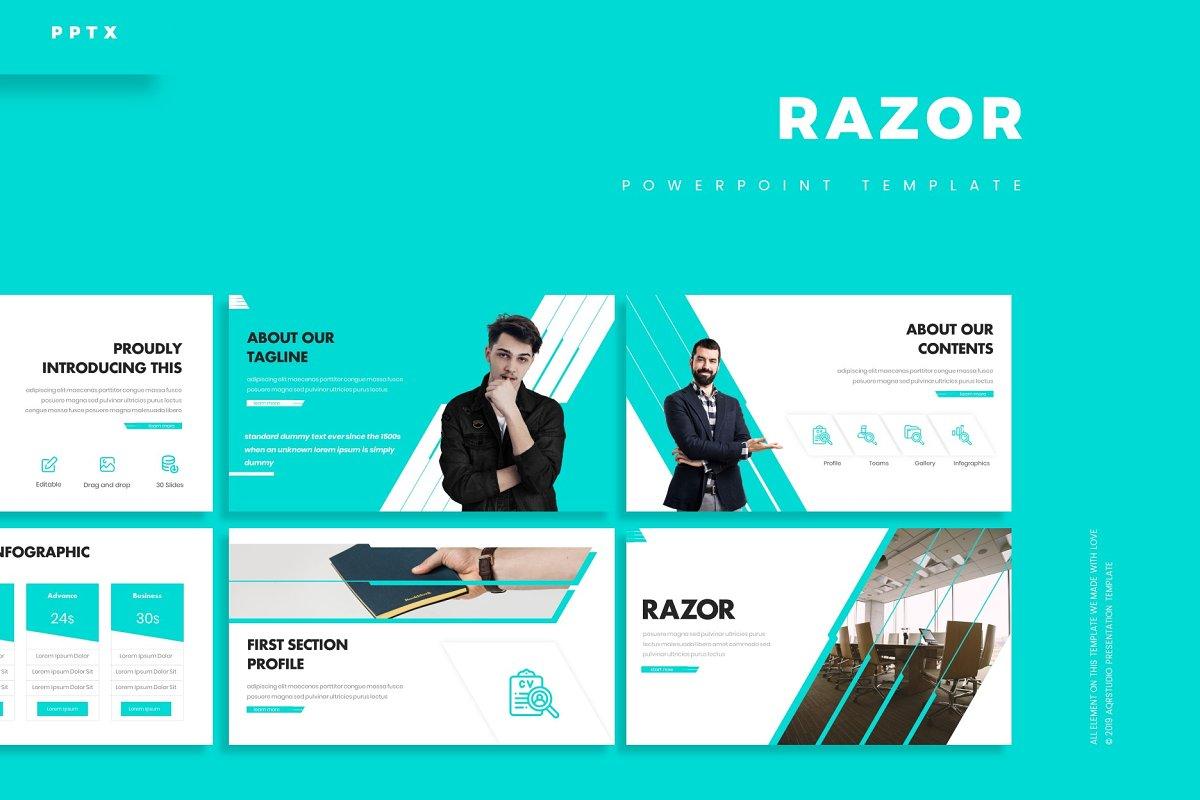 Razor - Powerpoint Template