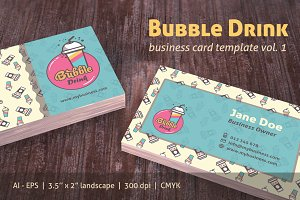 Bubble Drink Business Card vol 1
