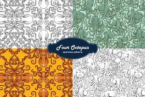 Octopus patterns, vector