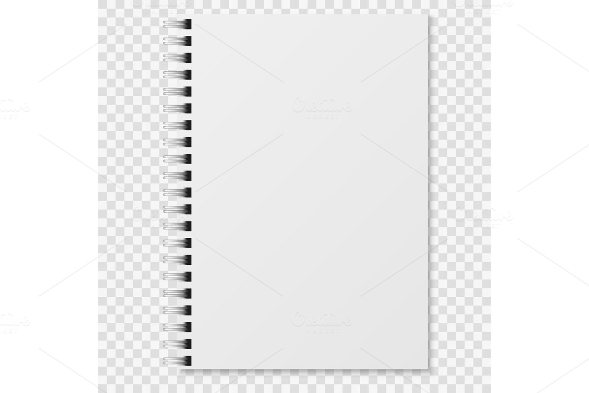 Realistic notebook. Blank closed