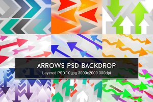 Arrows PSD Backdrop