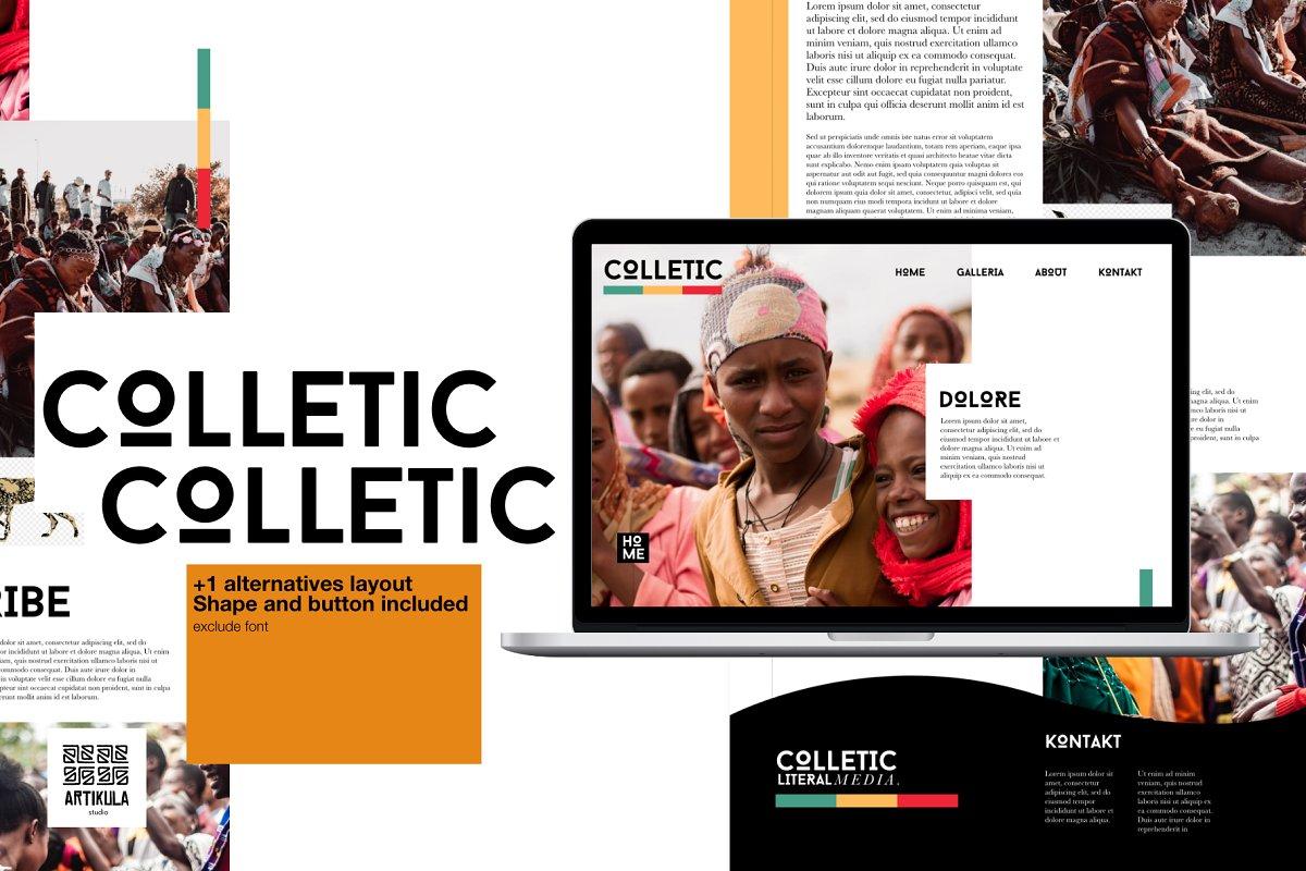 Colletic Desktop Template