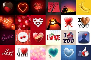 All about love, 24 vectors