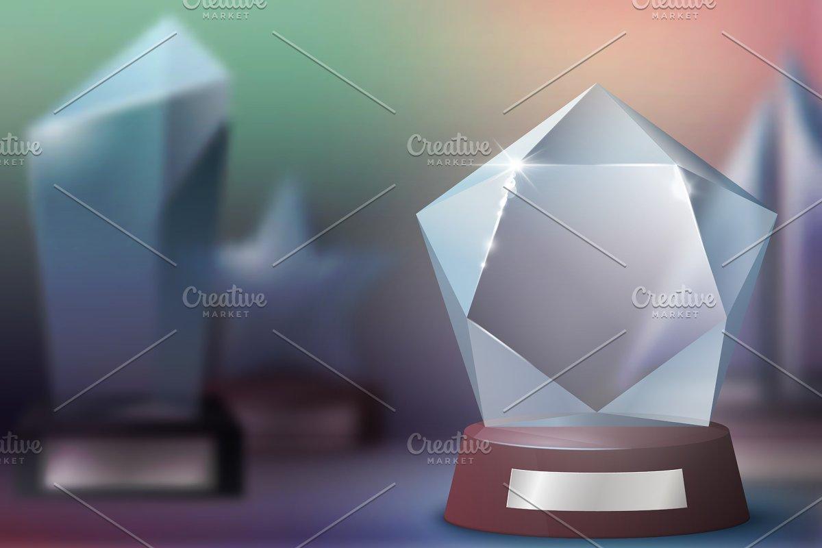 Glass trophy awards, winner prizes