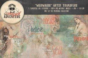 Mermaids Artsy Transfers