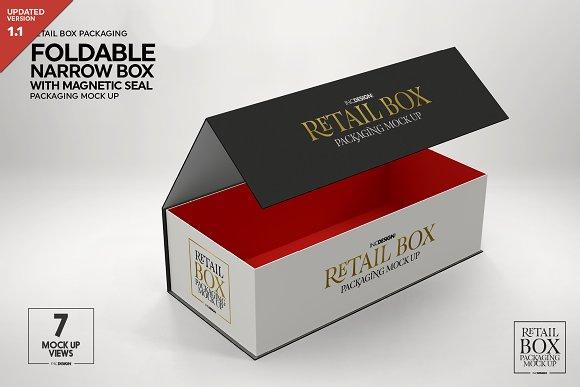Foldable Box Magnetic Seal Mockup Creative Branding Mockups