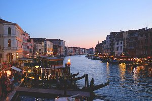 Sunset at the Grand Canal