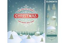 Christmas holidays greeting card
